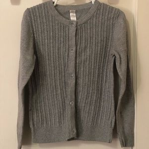 Cherokee Gray shimmer button down sweater size 5t
